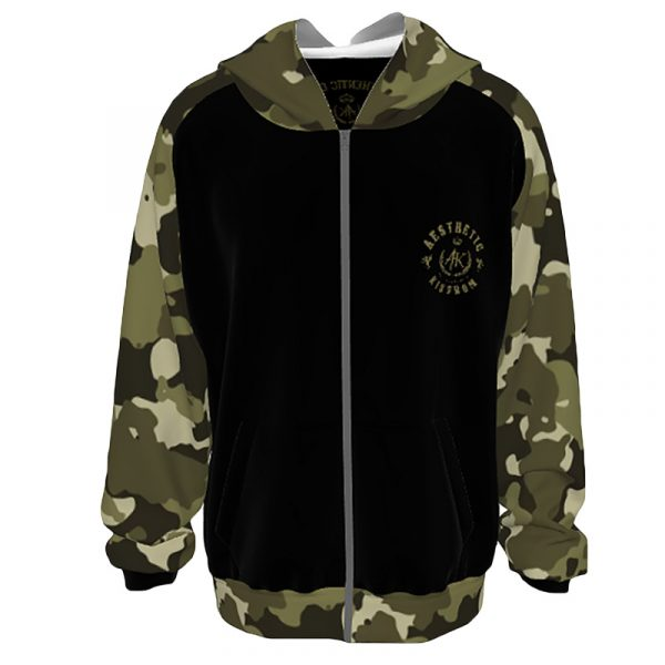 Unisex Camouflage Hoodie Army Green