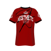 Mens Aesthetic Signature T Shirt Red / Black